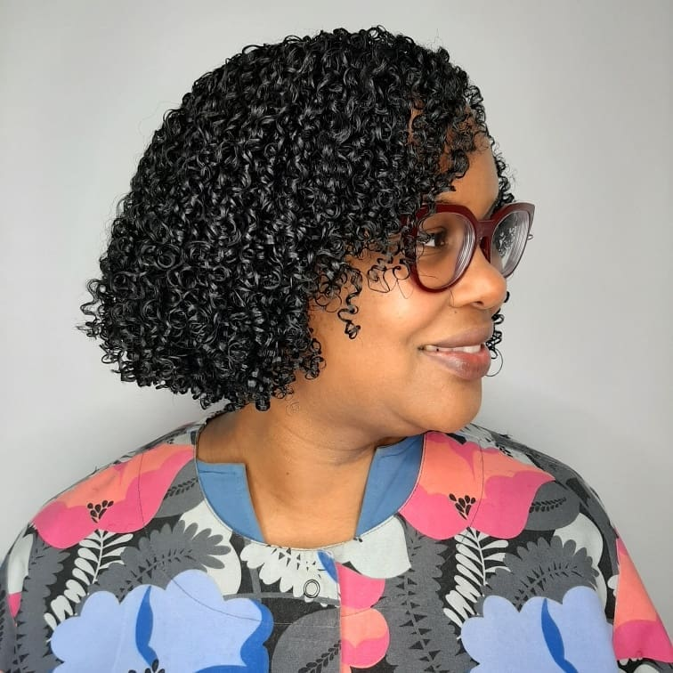 Short-to-Medium Crochet Curls