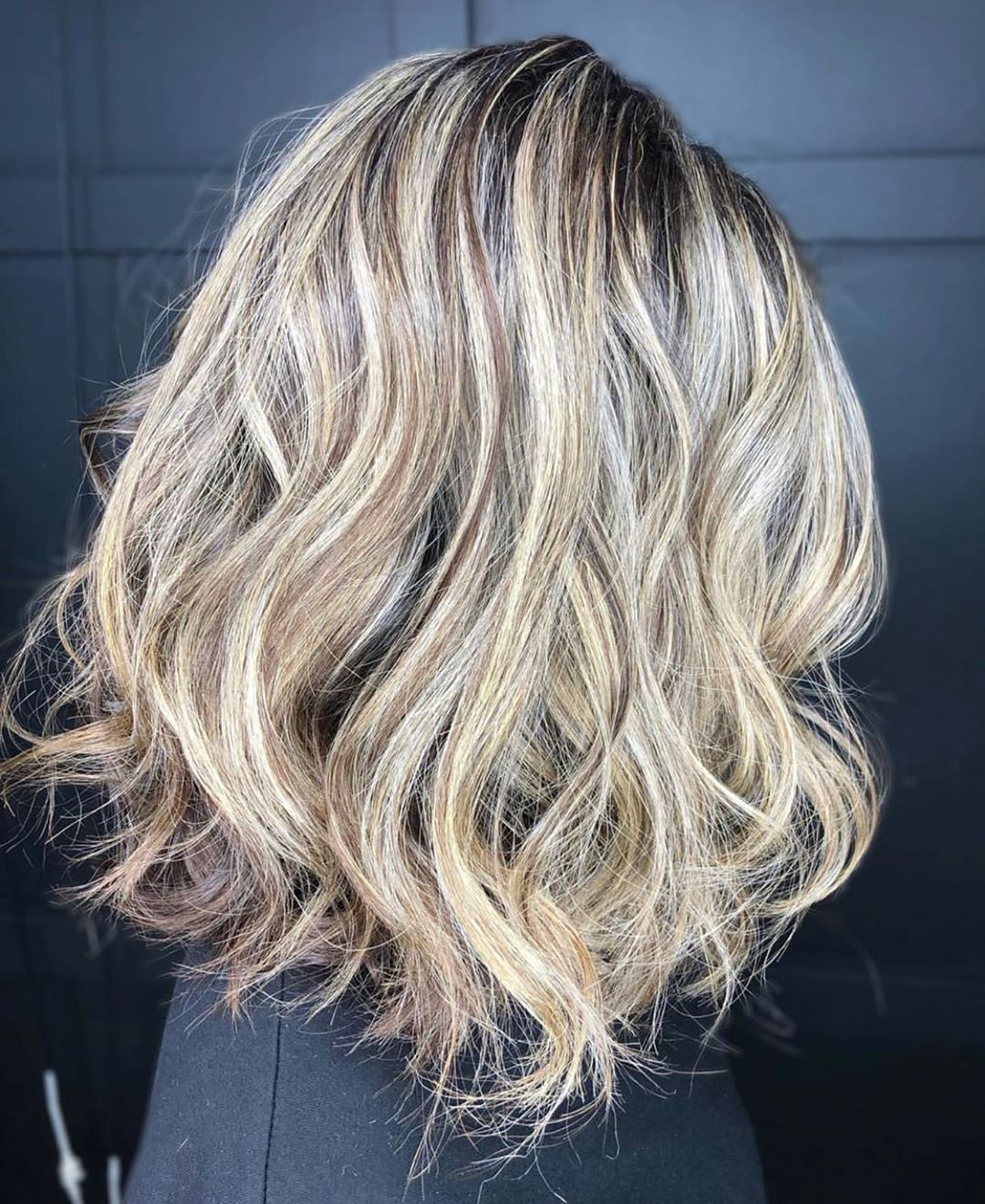 Dimensional Cool Blonde Balayage Hair