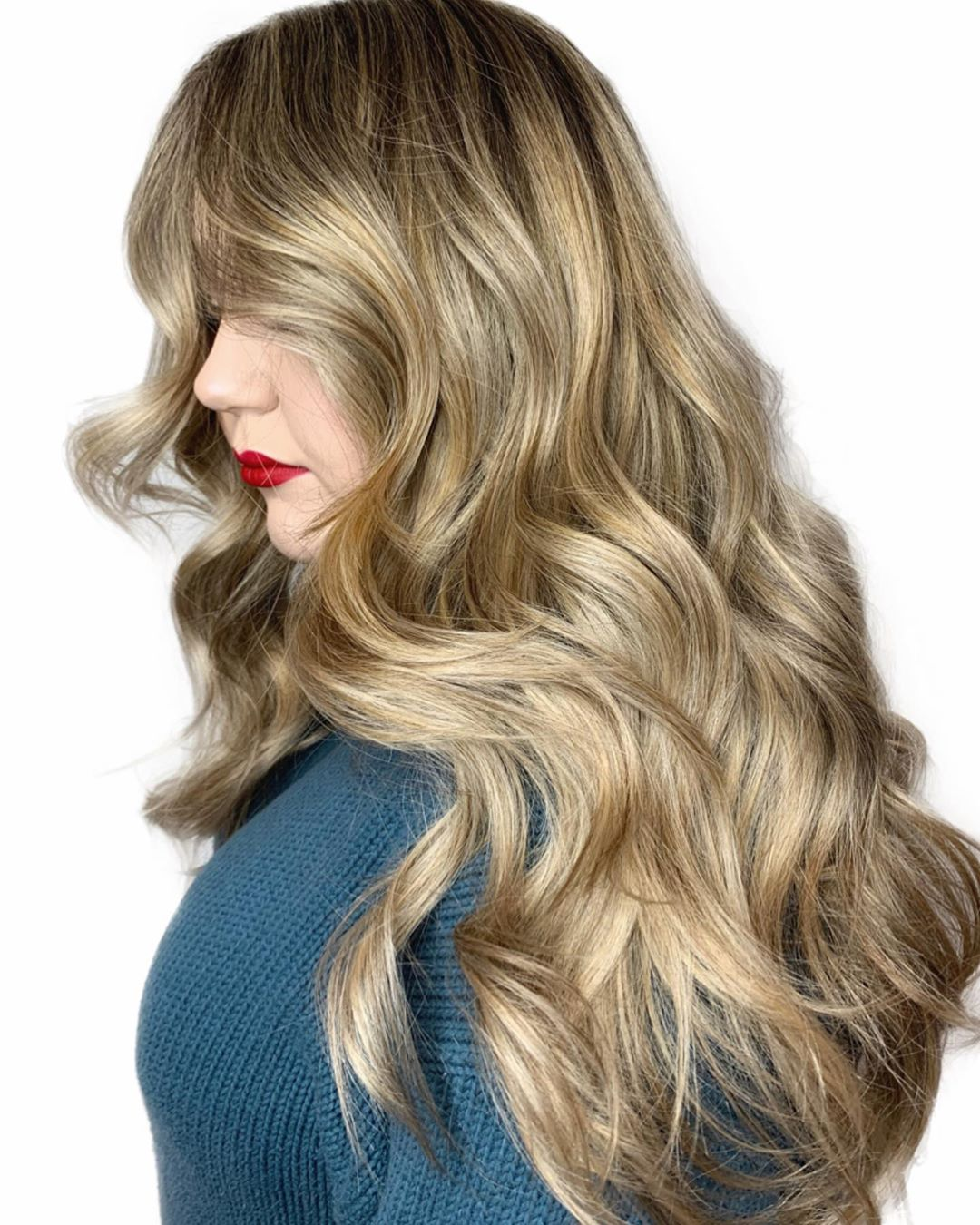 Heavy Metallic Blonde Balayage Highlights
