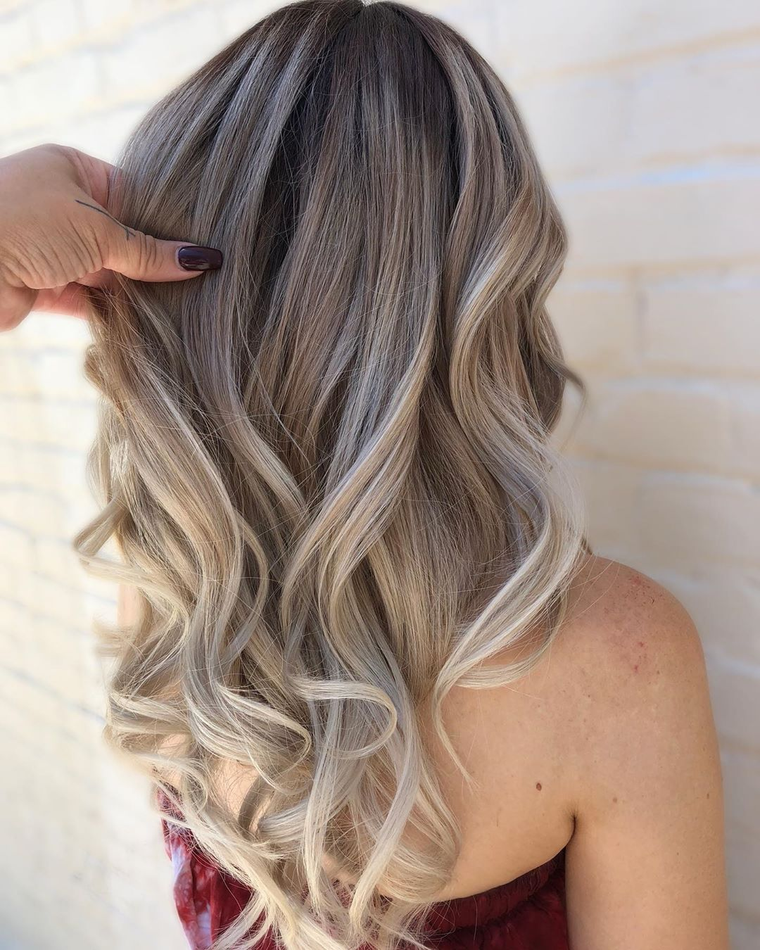 Dusty Blonde Balayage Hair