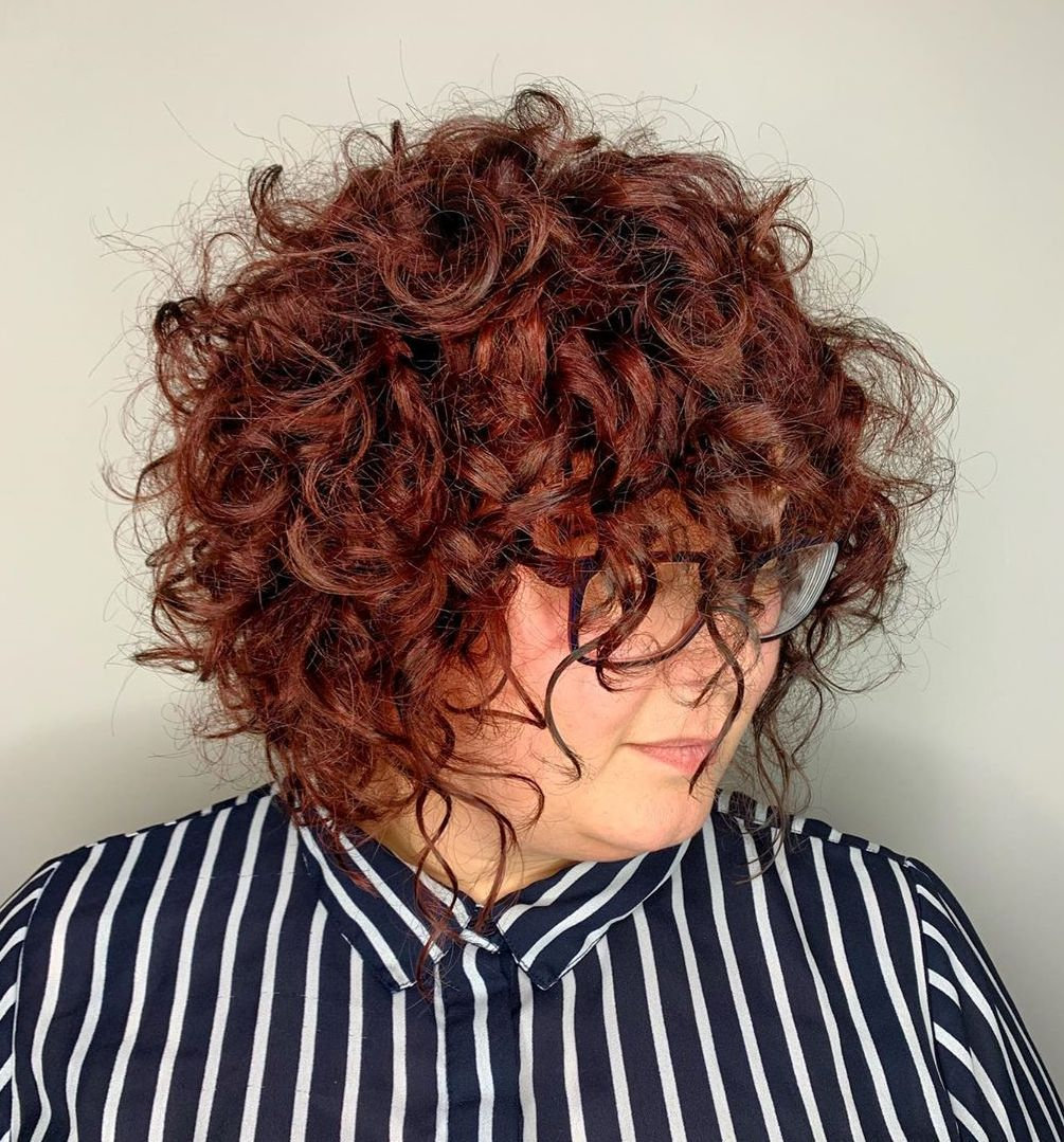Cute Messy Curly Bob