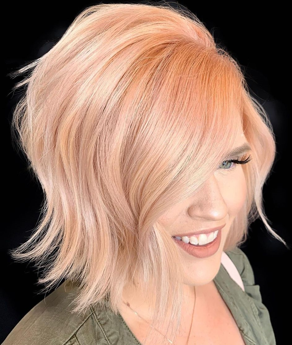 Warm Rose Gold Hair Color