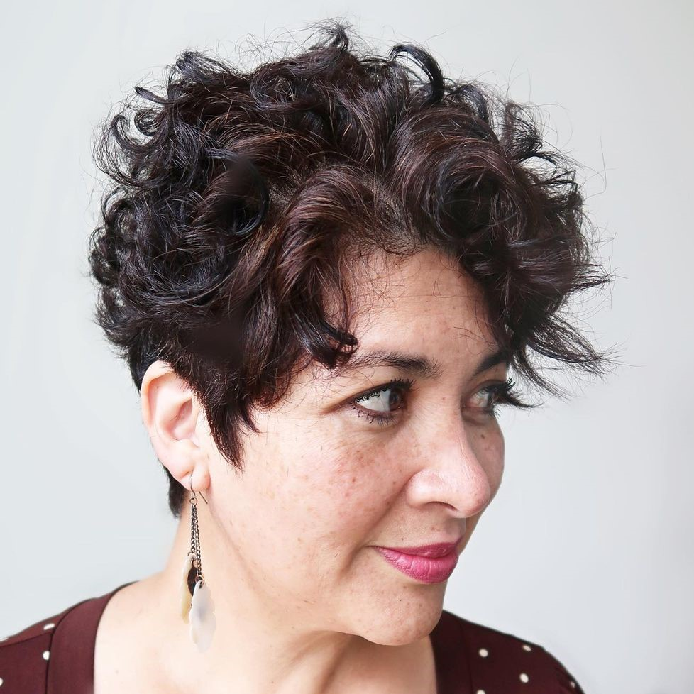 Funky Short Curly Pixie