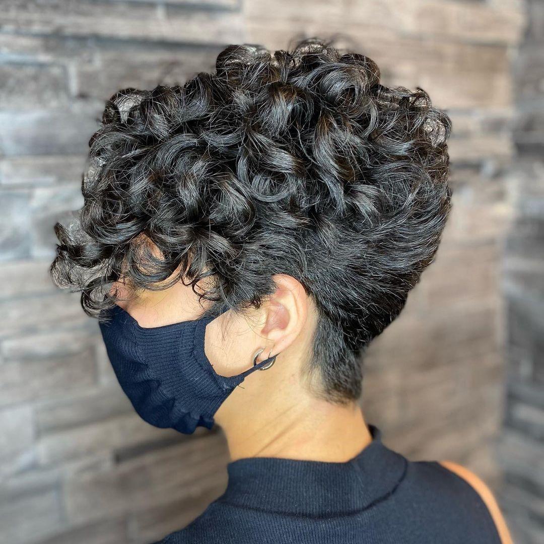Undercut Haircut for Naturally Curly Hair