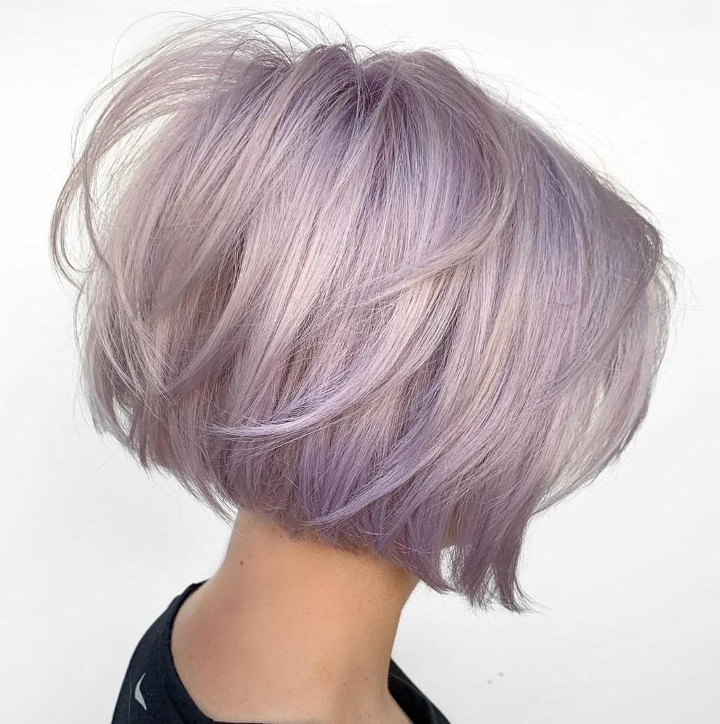 Short Silver Purple Hair