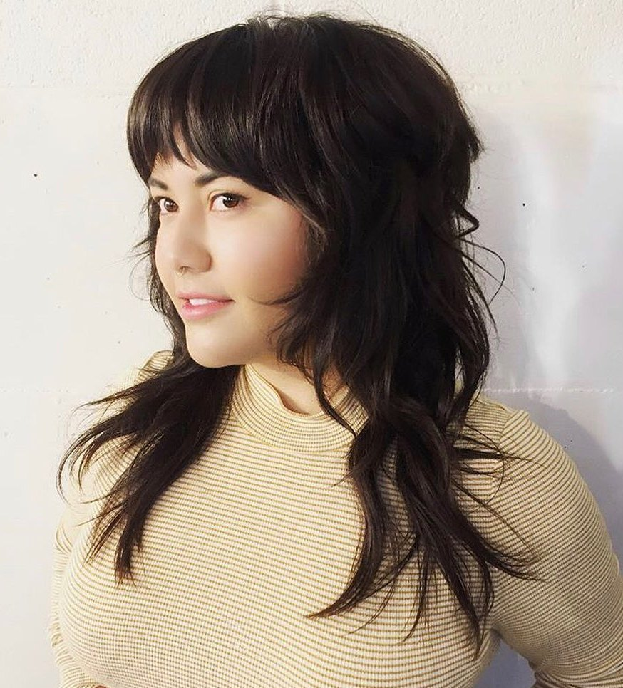 Piece-y Bangs for a Round Face