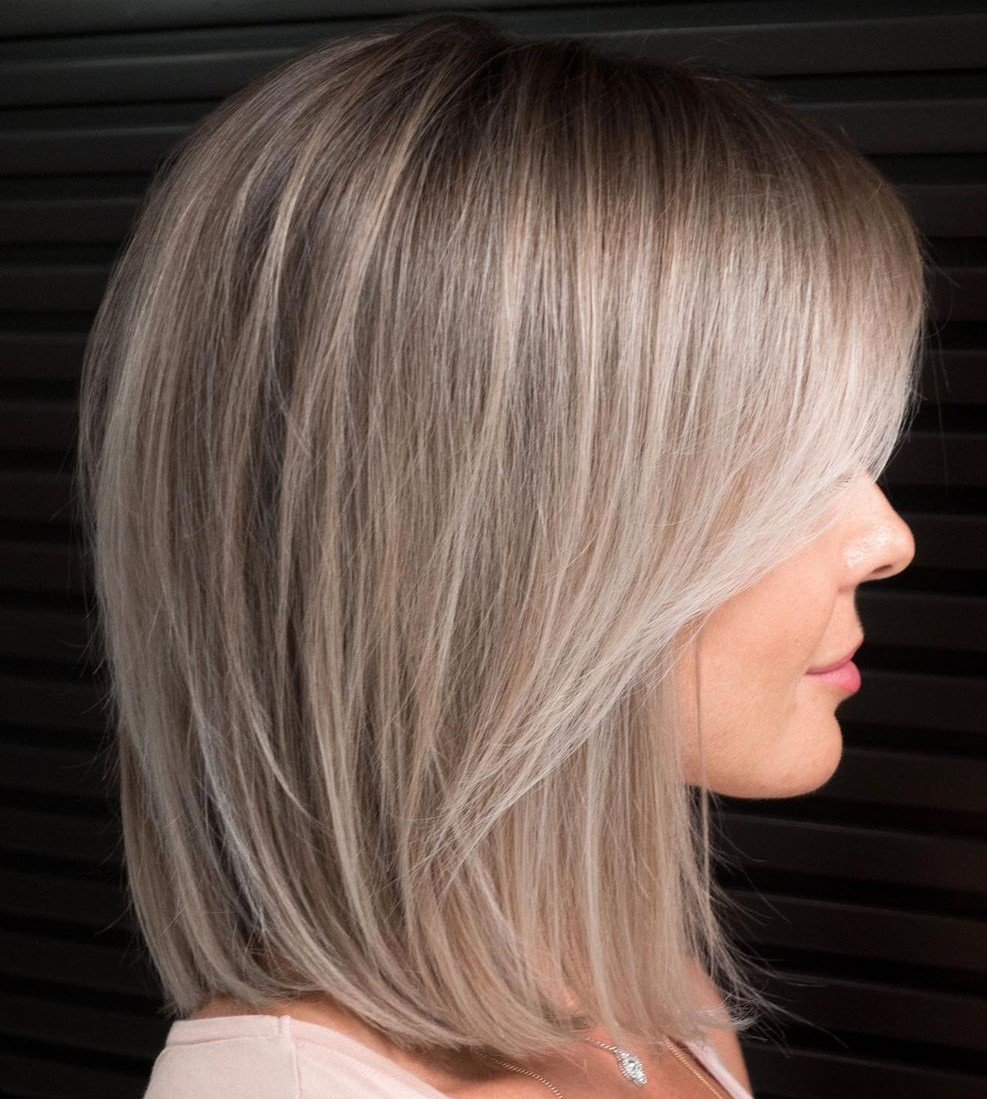 Ash Blonde Hair with Platinum Highlights