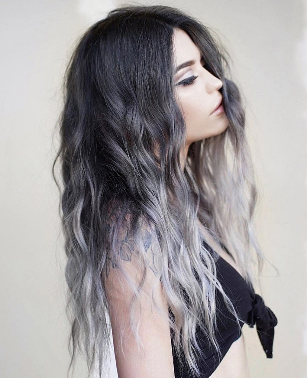 Silver and Gray Highlights for Black Hair