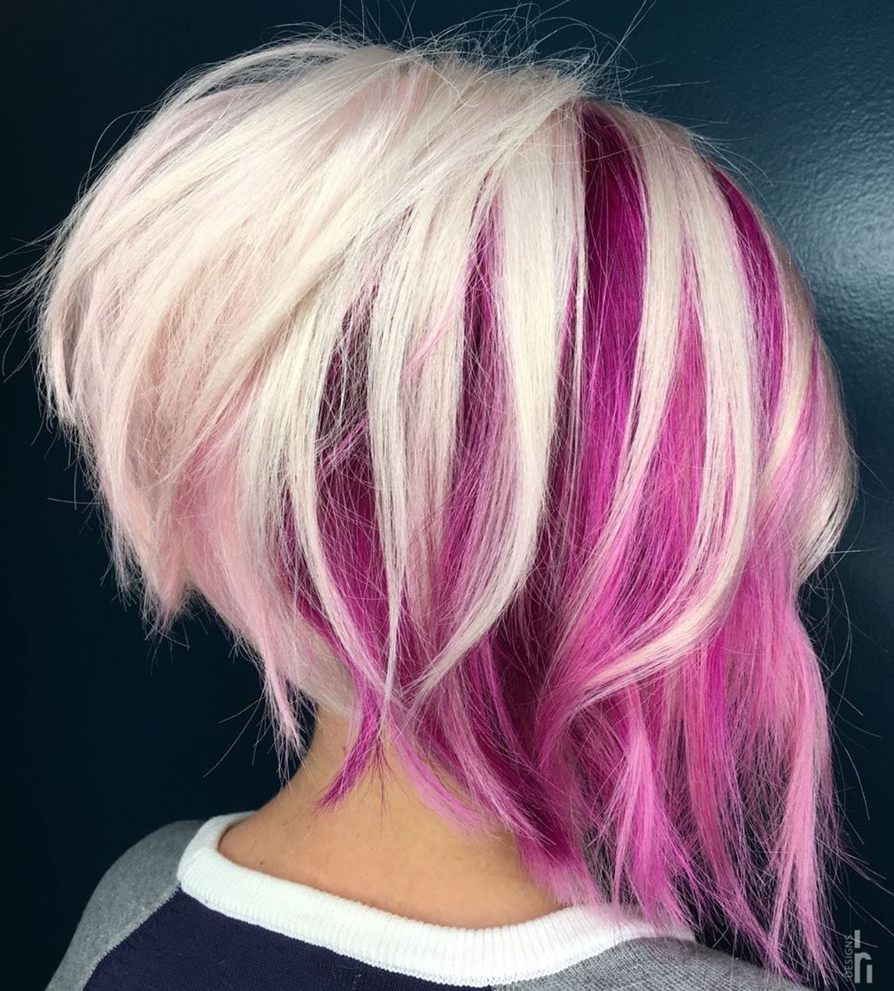 Pink Hair Color Underneath