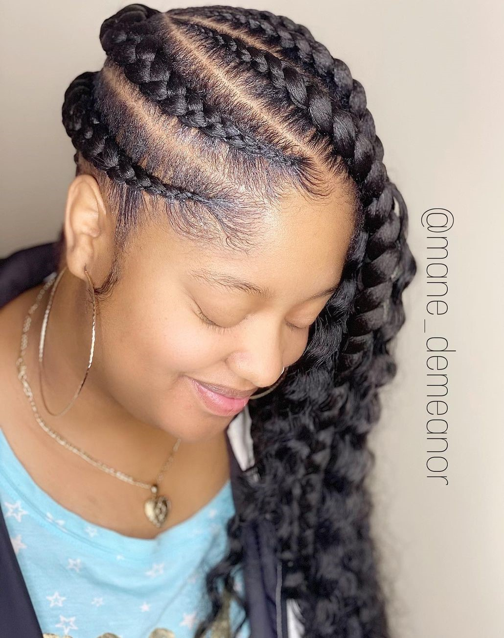 Large Lemonade Braids with Waves