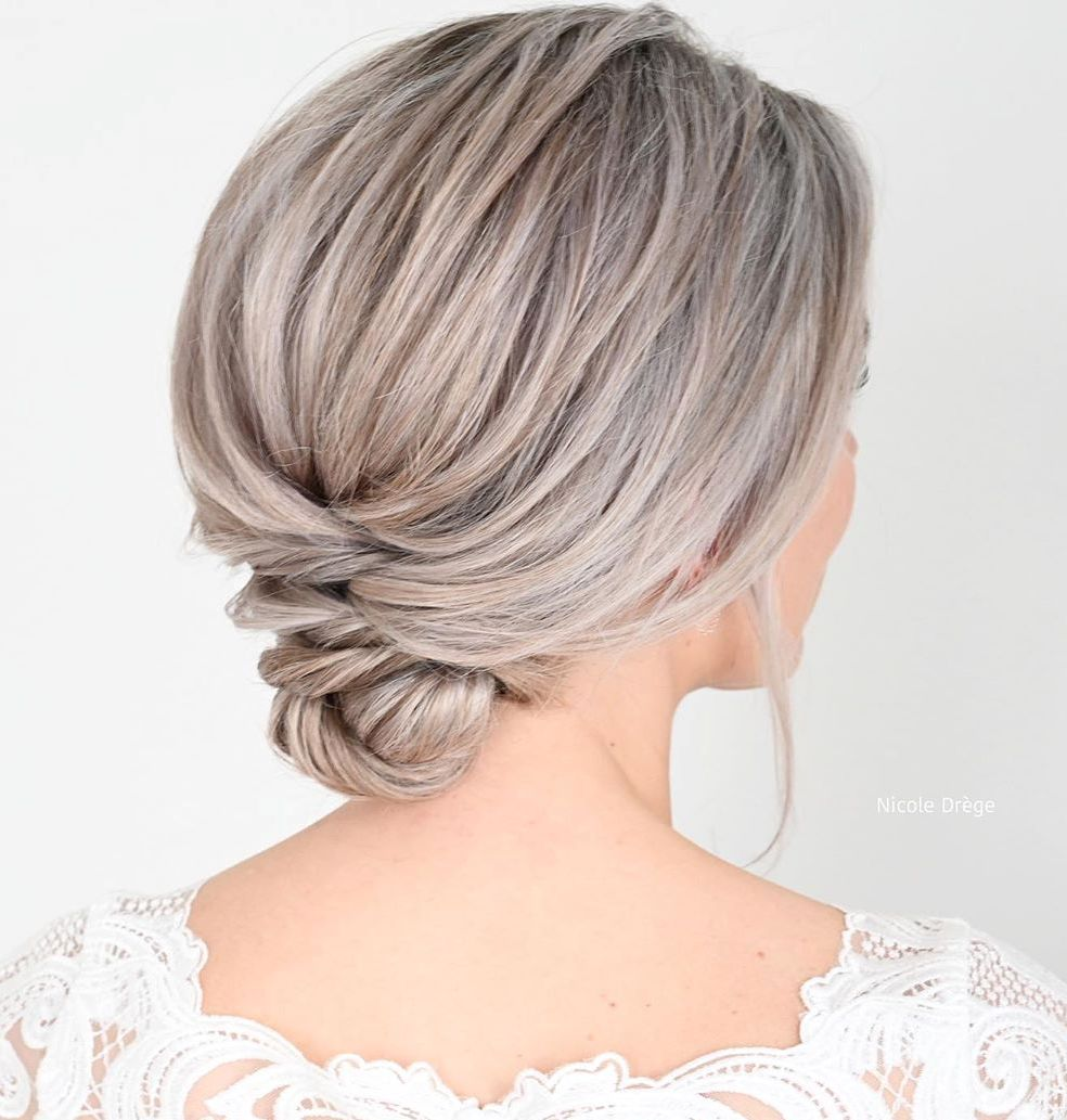 Low Short Hair Updo