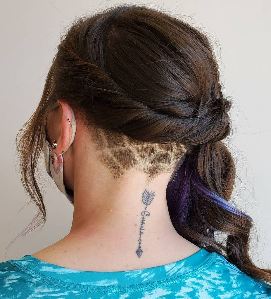 Long Romantic Updo with a Hidden Undercut