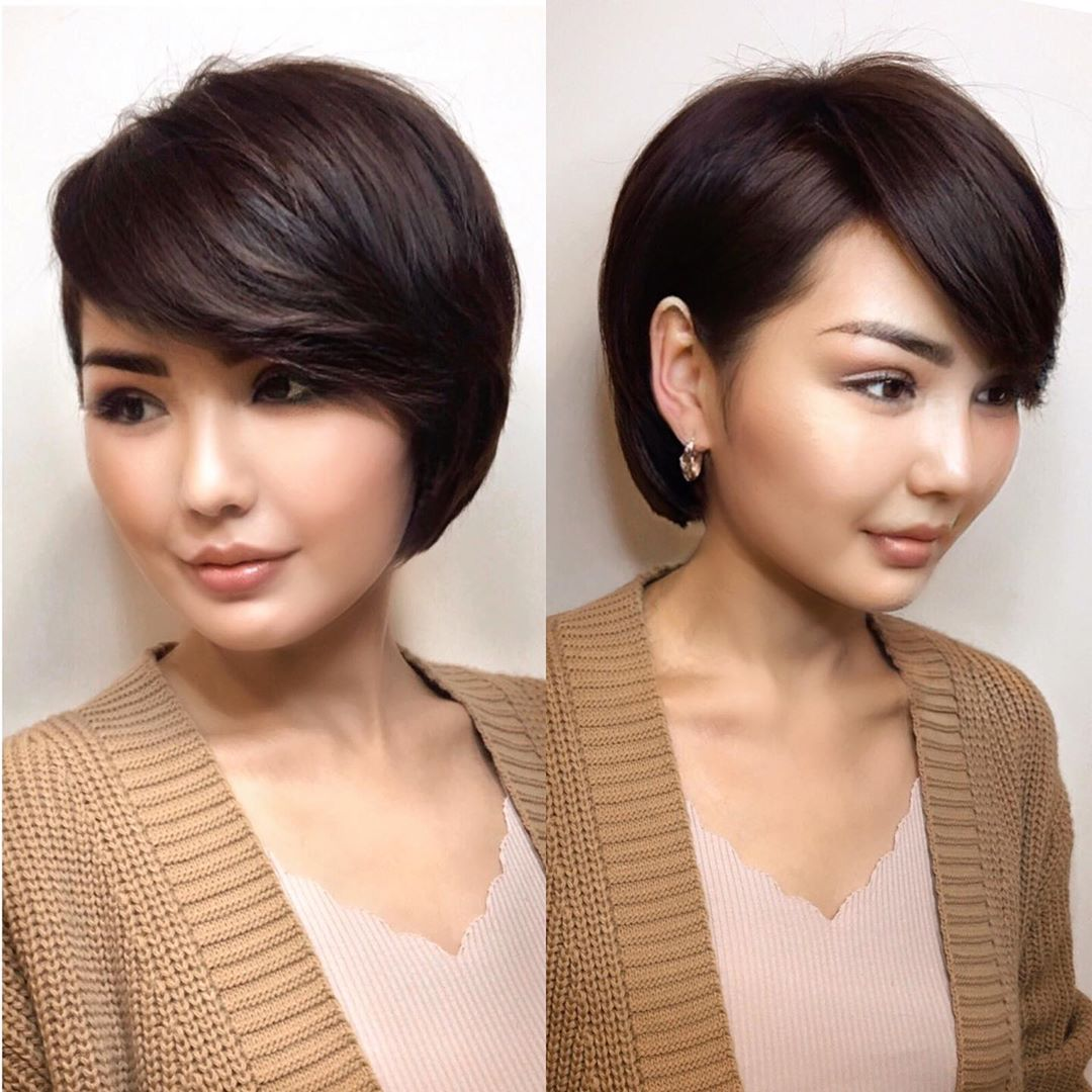 Short Bob with Full Swoopy Bangs