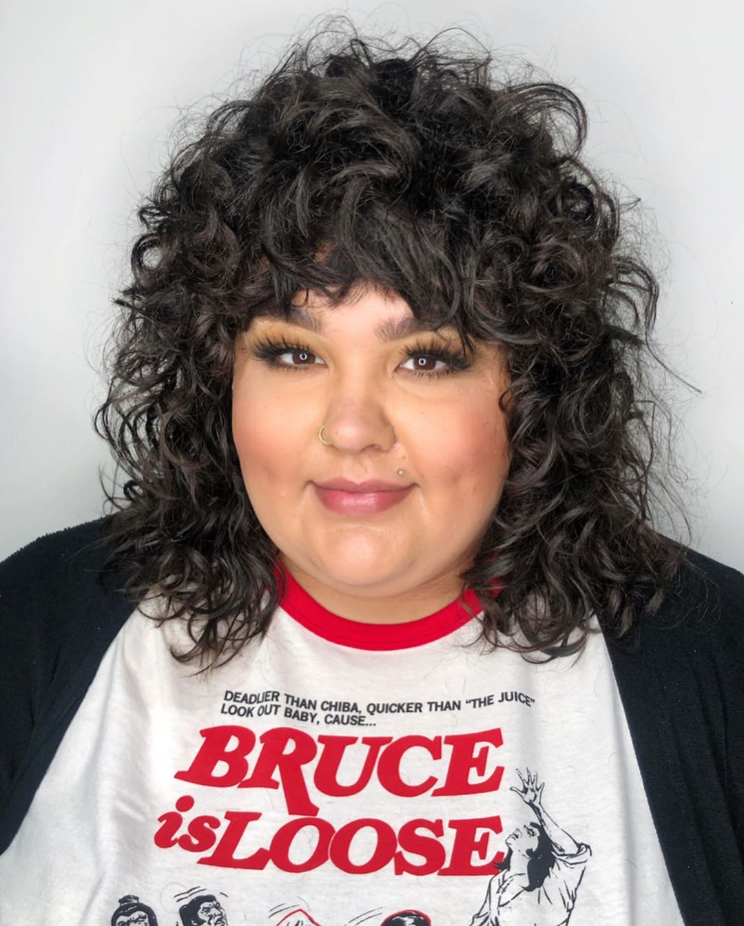 Thick Curly Bangs for Overweight Women