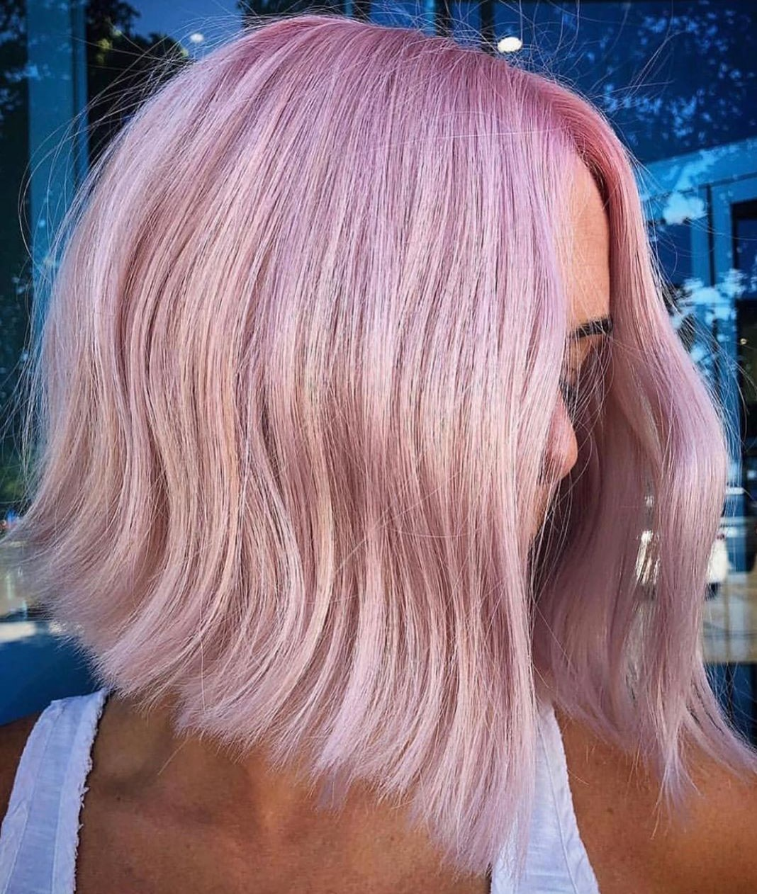 Pastel Pink Idea for Blonde Hair