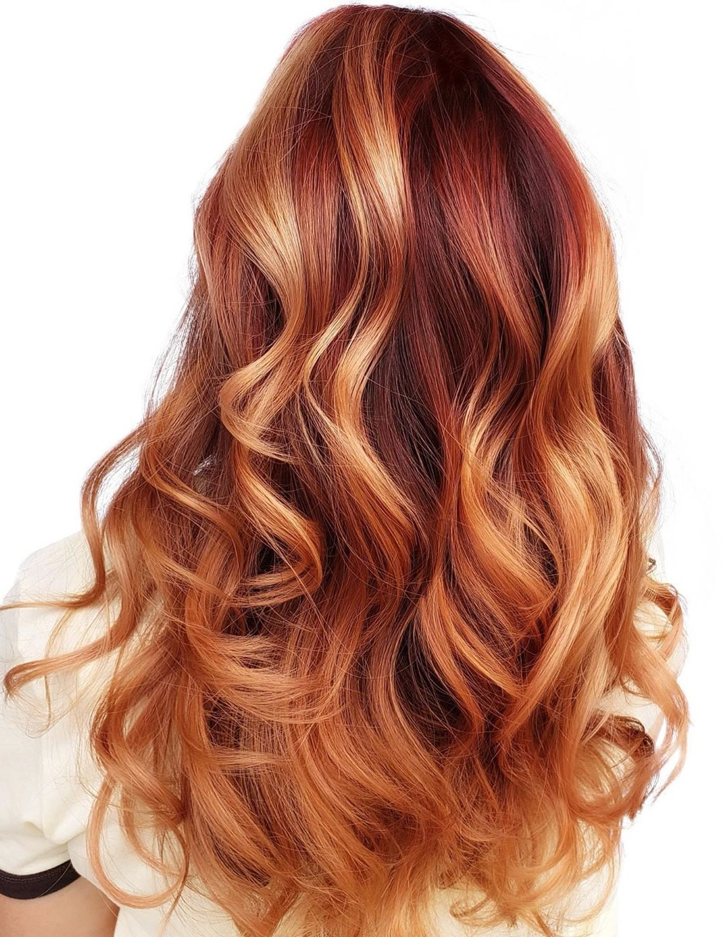 Strawberry Blonde Hair with Red Roots