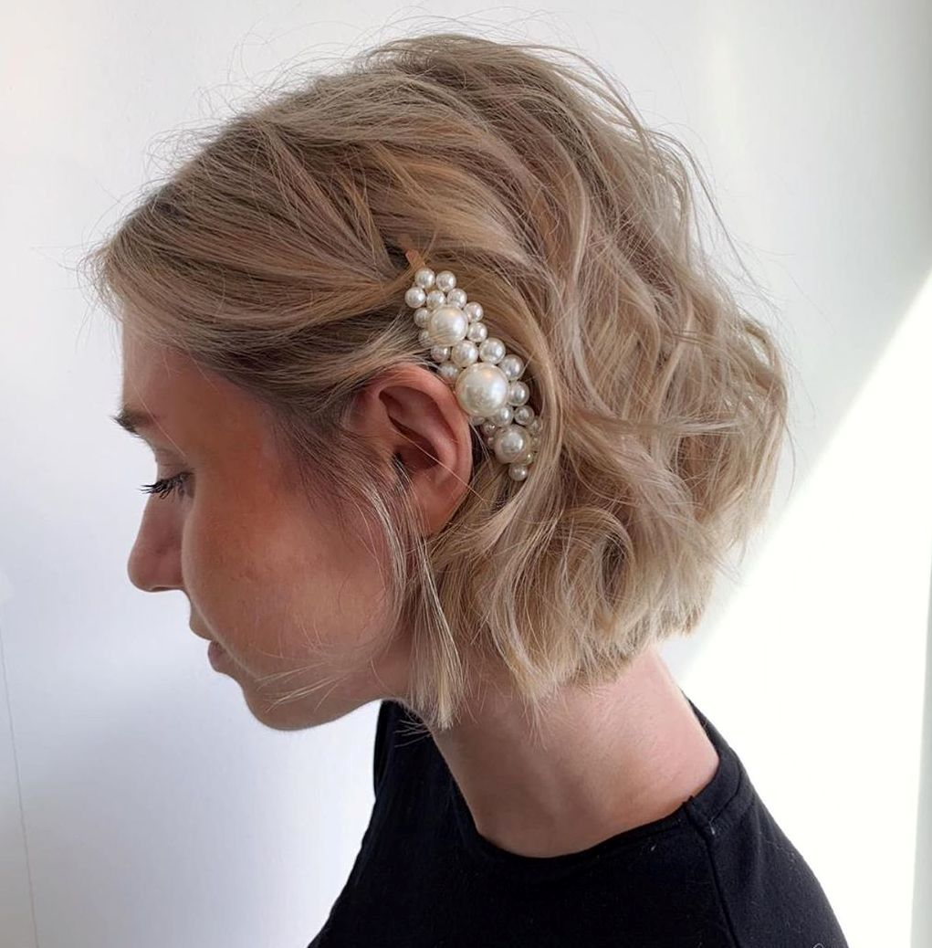 Chin-Length Updo Style