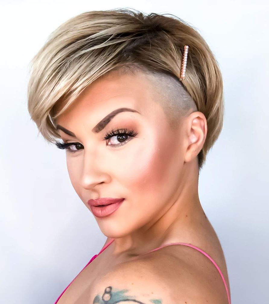 Feminine Short Shaved Hairstyle