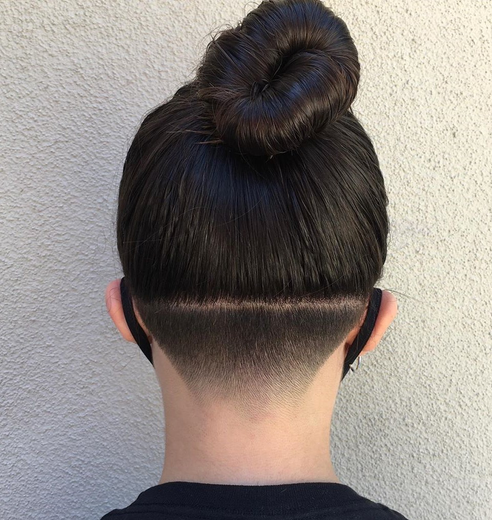 Long Hair with Shaved Back of the Head