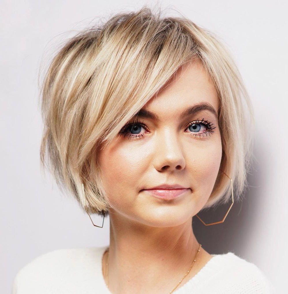 Short Bob with Choppy Side Bangs