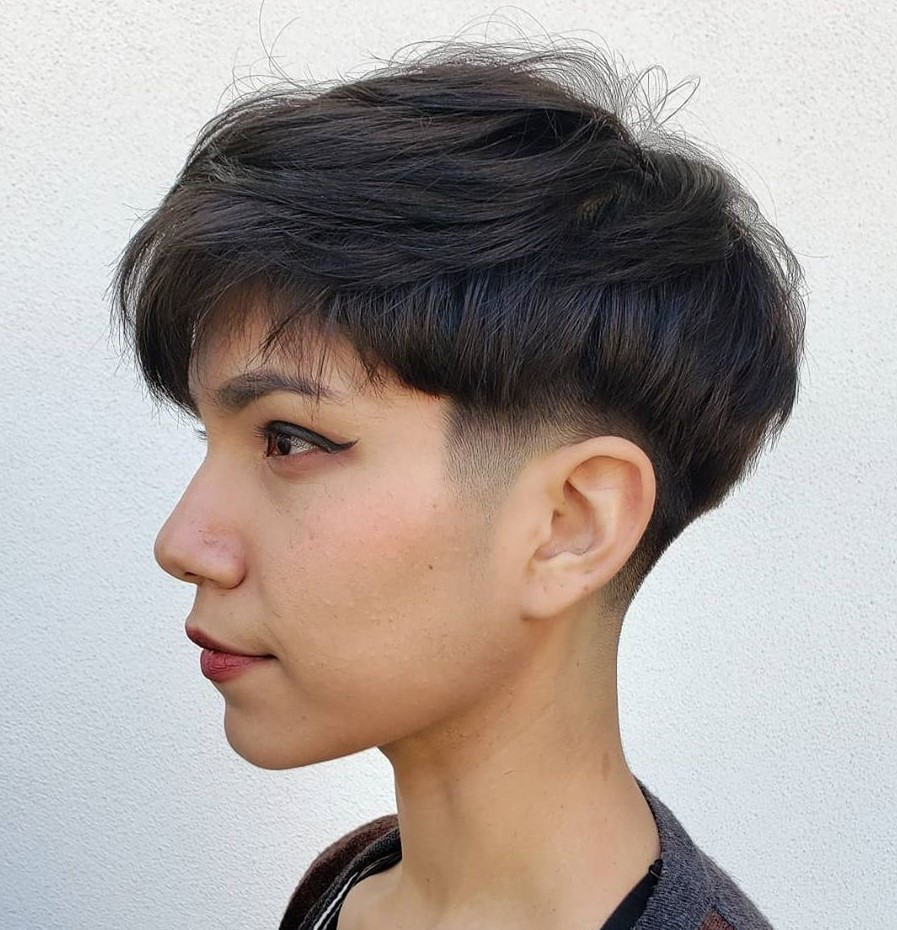 Undercut Bowl Cut with Low Fade