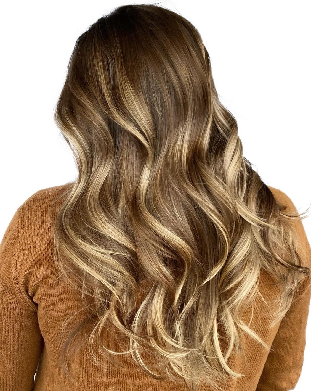 Chocolate Hair with Dirty Blonde Highlights