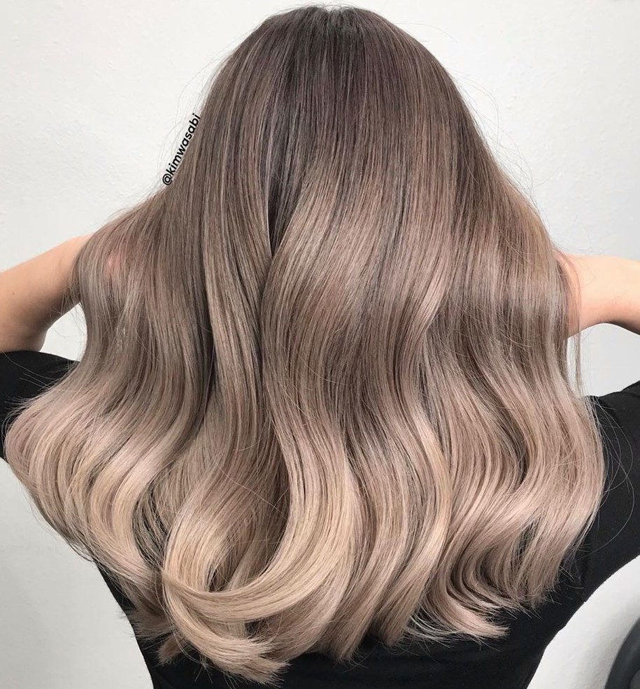 Mauve Dirty Ash Blonde Balayage