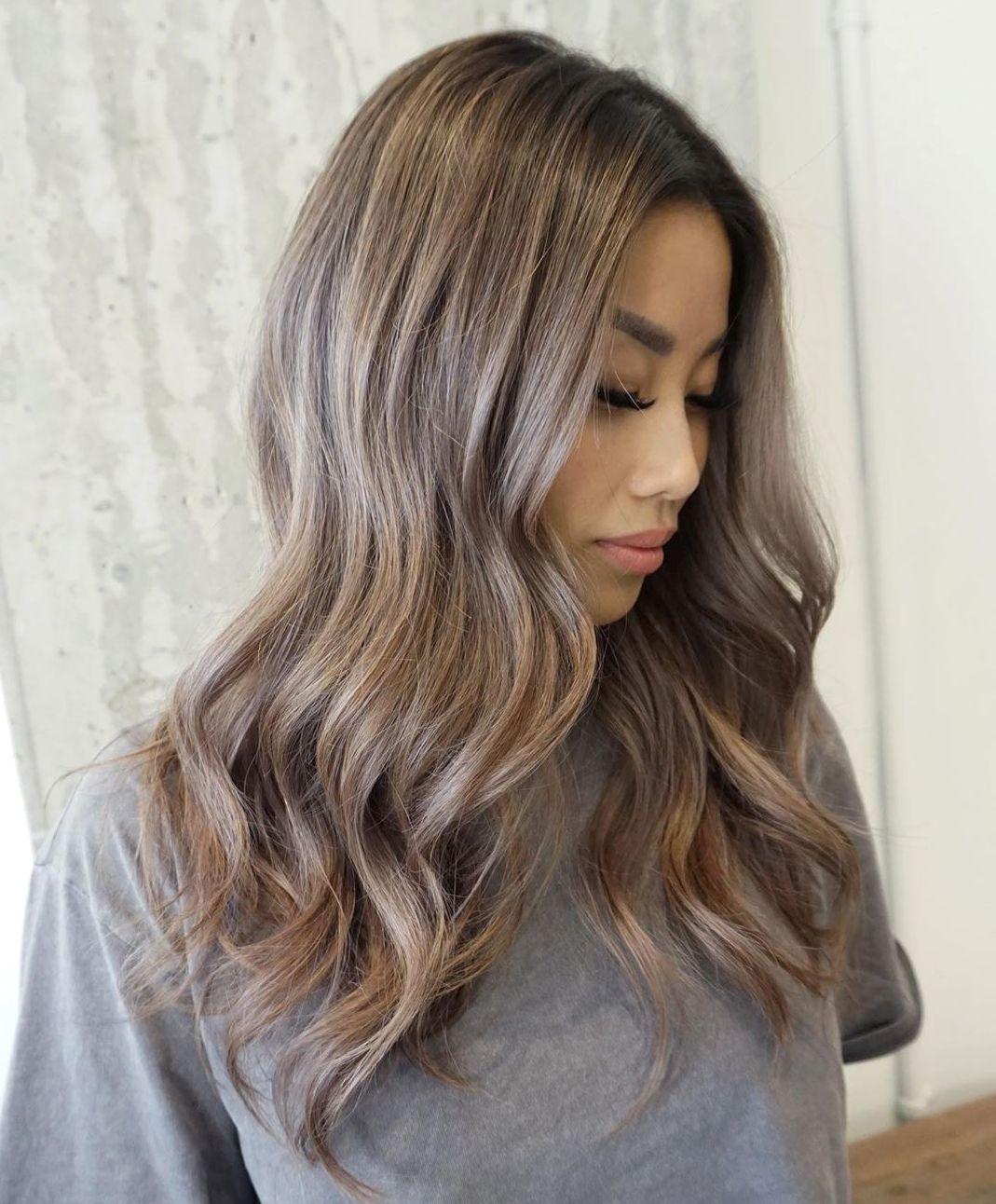 Dark Ash Blonde Hair with Strawberry Highlights