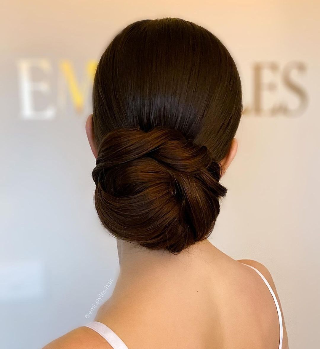 Sleek Low Bun Hairstyle with a Twist