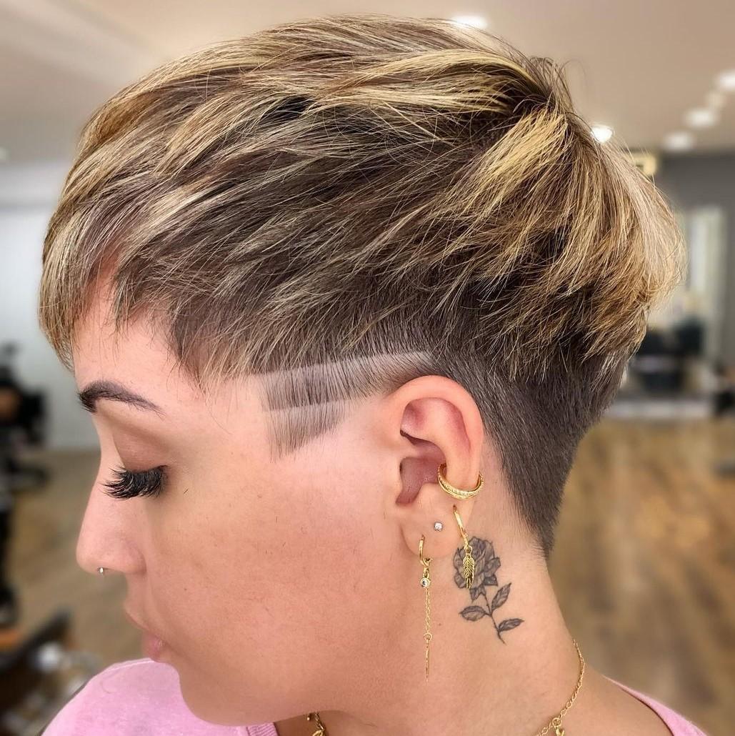 Choppy Pixie Hairstyle with Undercut
