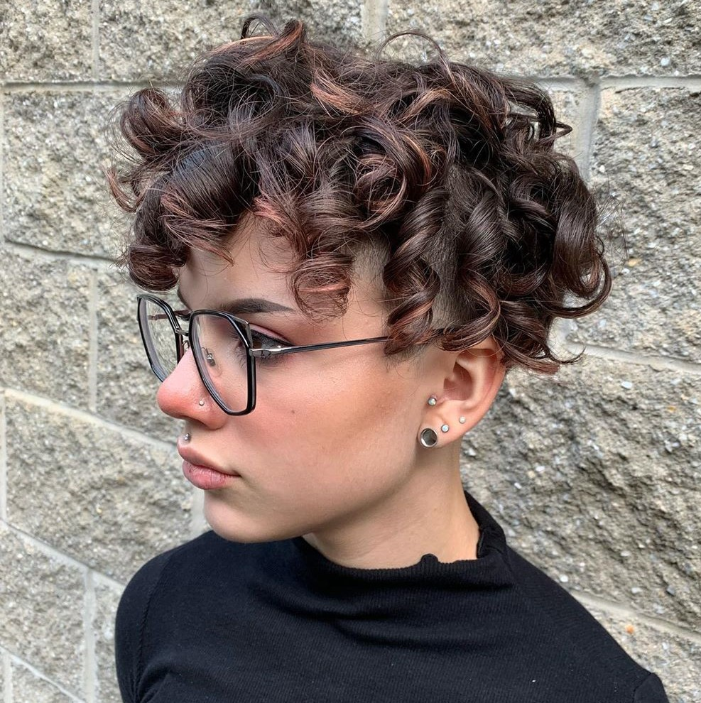 Curly Pixie Cut with Undercut