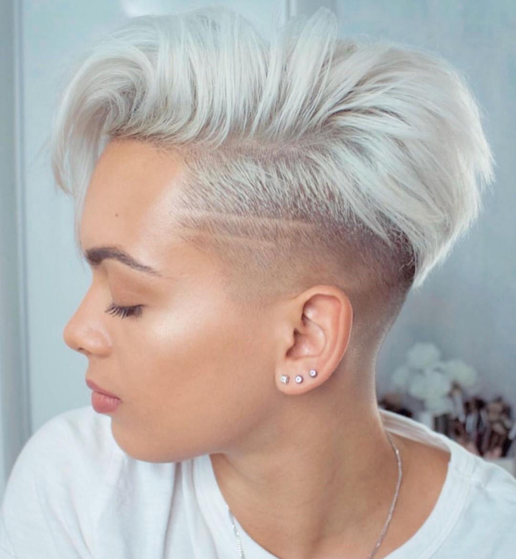 Short Platinum Blonde Undercut