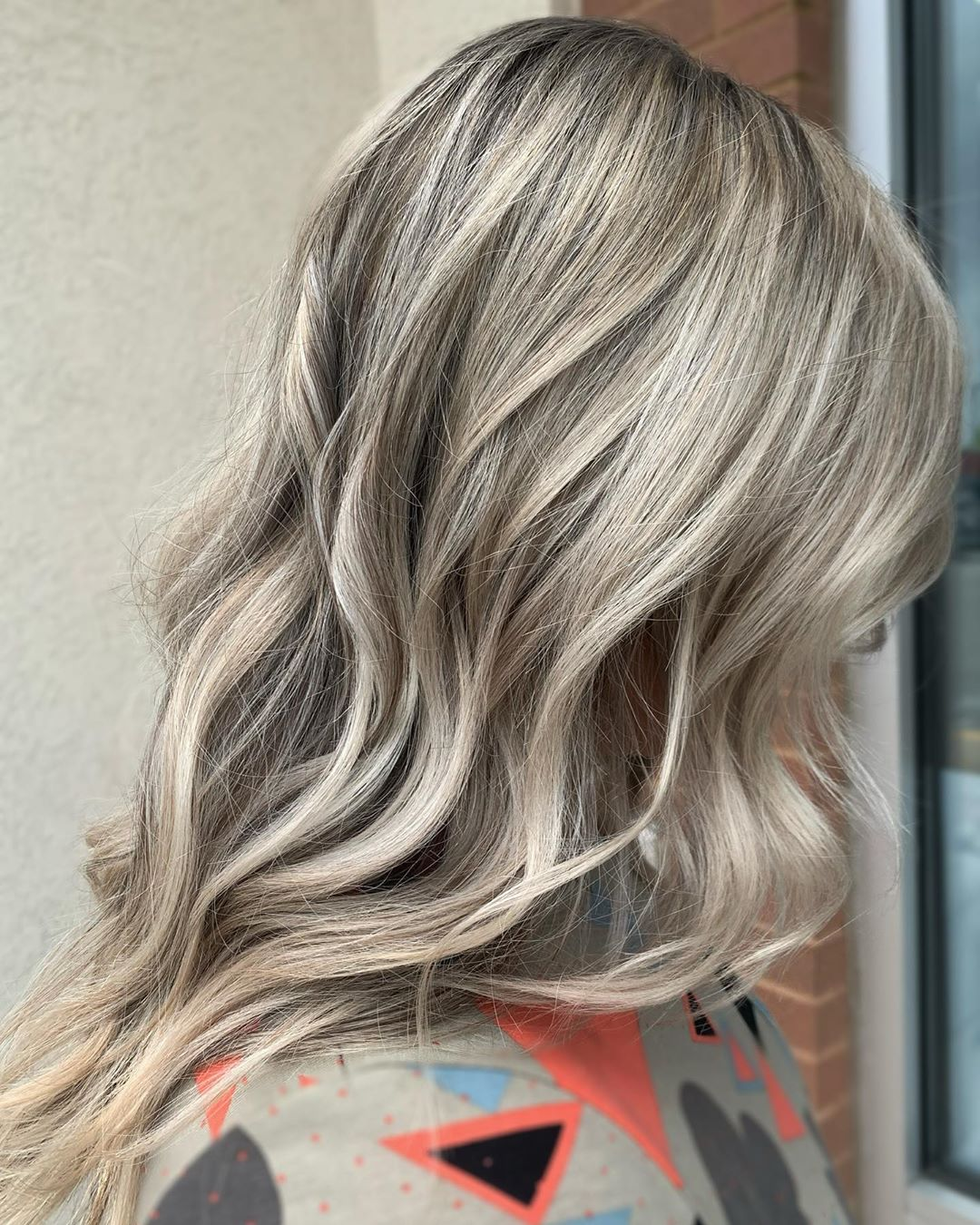 Gray Blonde Hair with Highlights and Lowlights