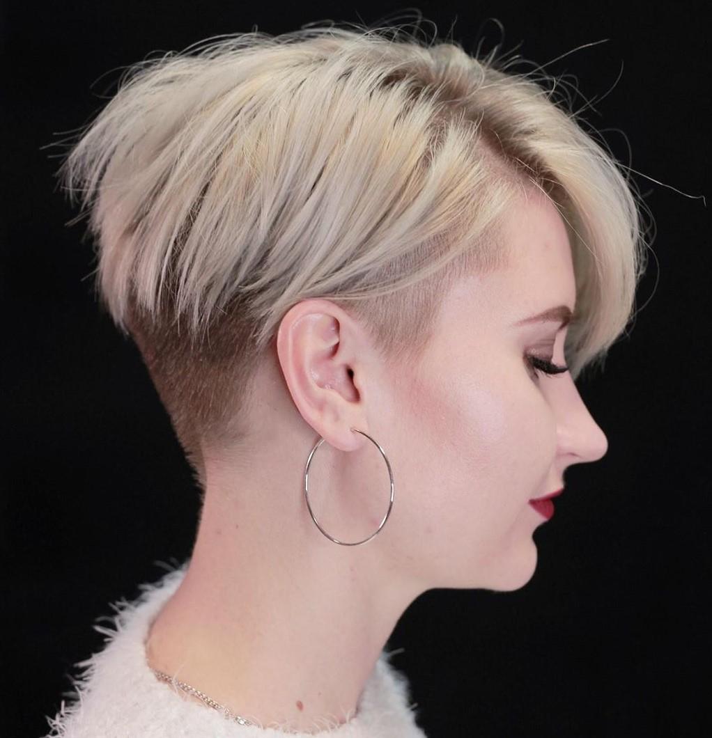 Blonde Pixie Undercut