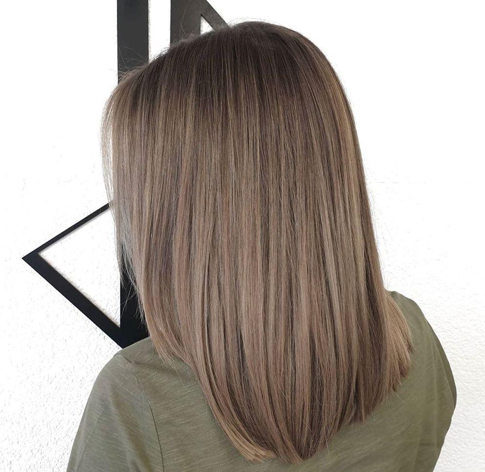 Dark Ashy Blonde Hair Balayage
