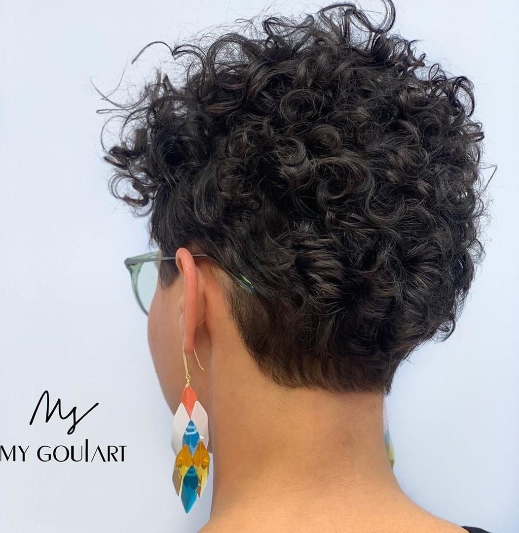 Short Brunette 3B Curly Pixie