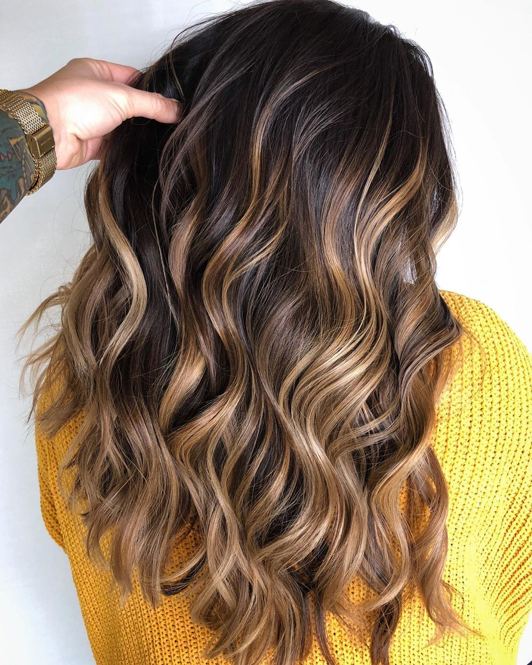 Brown and Sandy Blonde Balayage Hairstyle