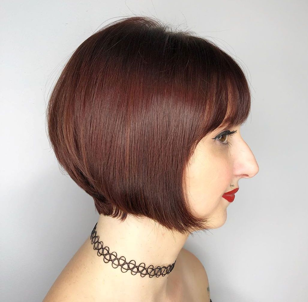 Short Graduated Bob with Bangs