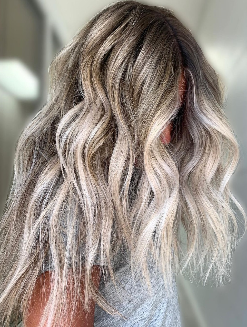 Gorgeous Ash Blonde Hair with Money Pieces