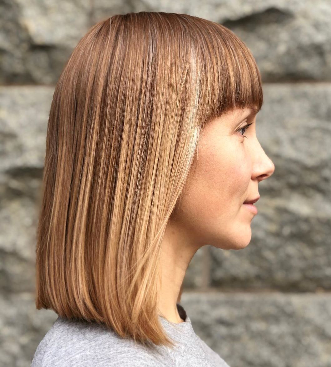 Long Bob with Bangs for Straight Hair