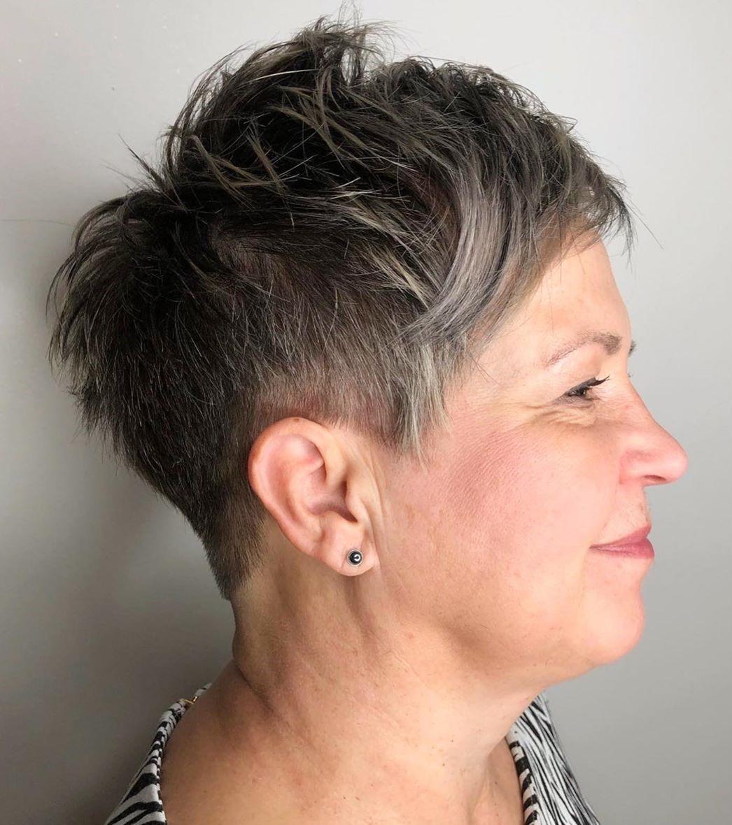 Older Women's Textured Cut with Undercut