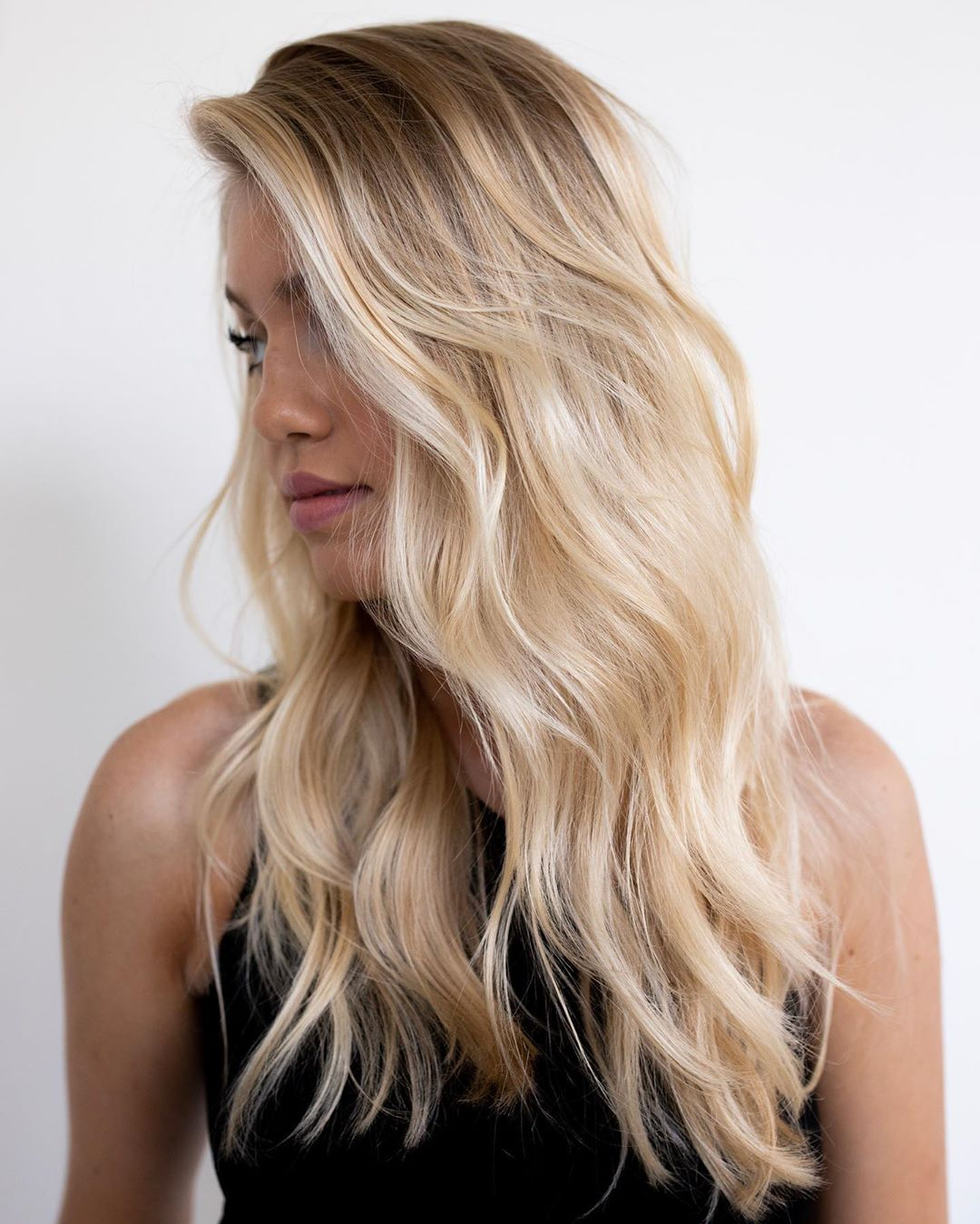 Romantic Champagne Blonde Hair