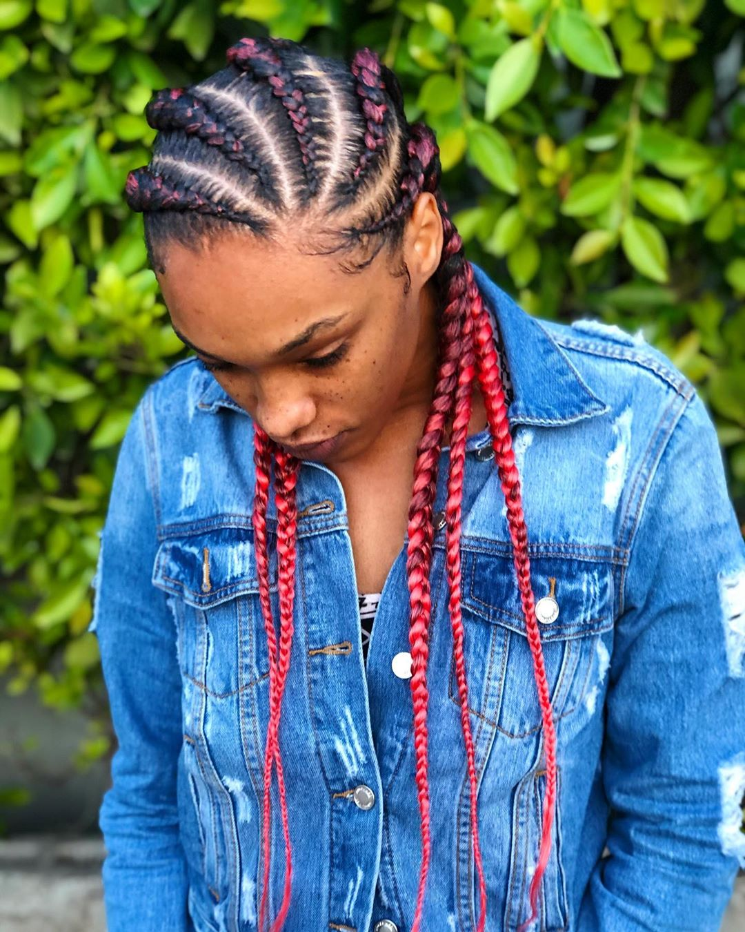 Goddess Ombre Braids with Color