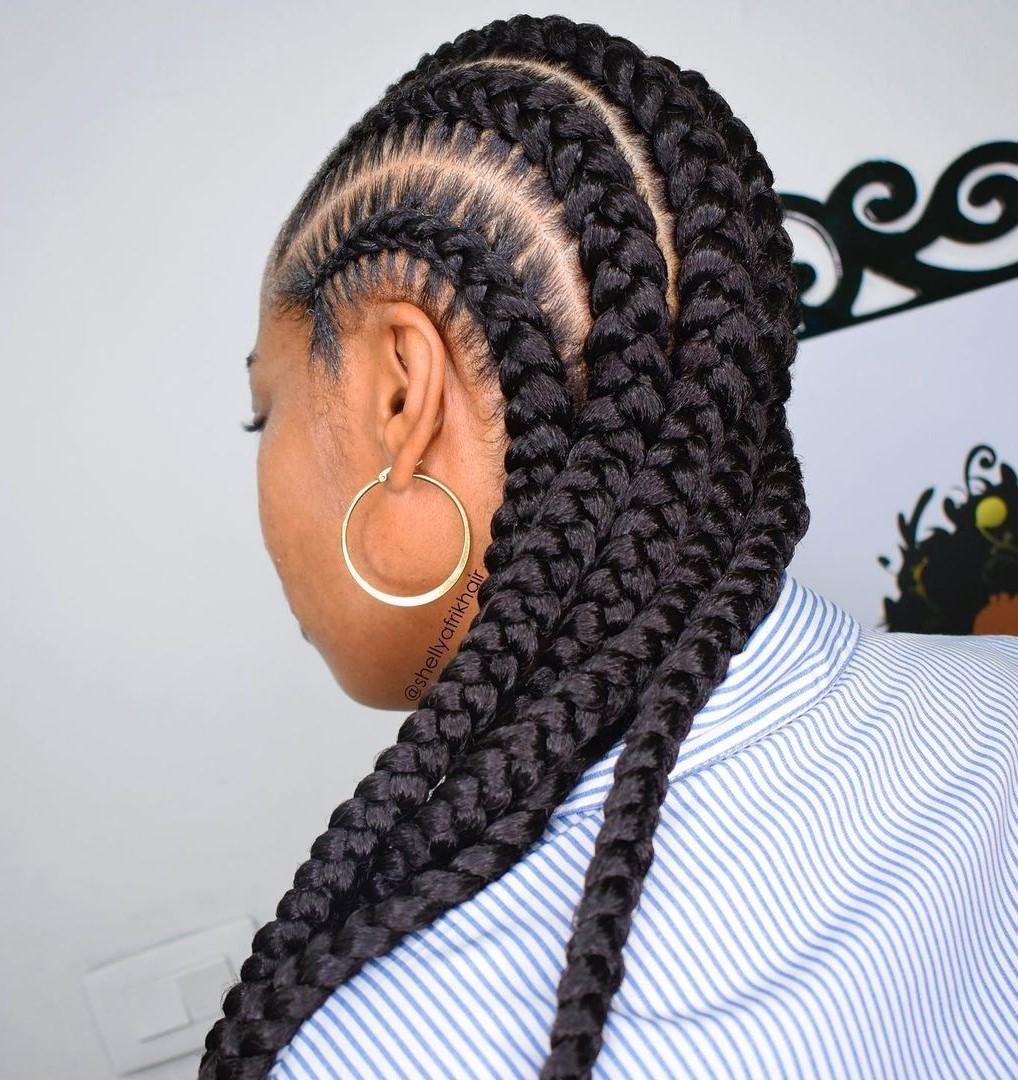 Classy 5 Goddess Braids Hairstyle