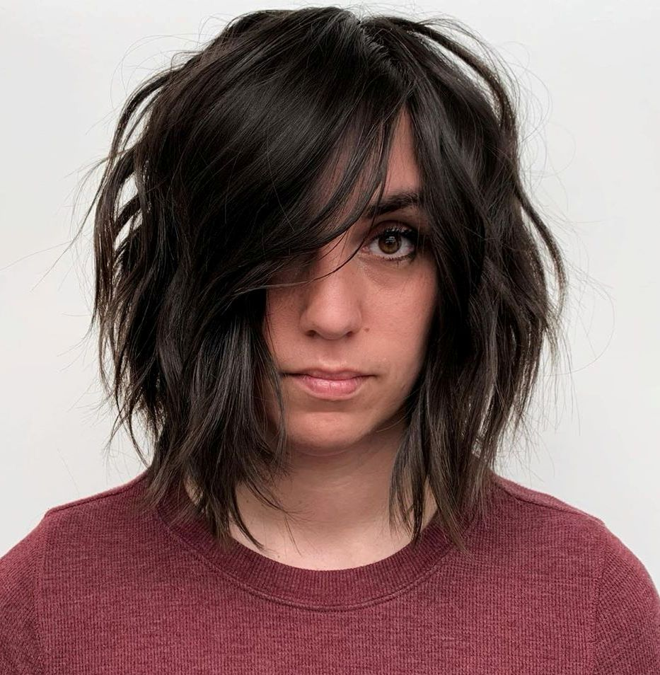 Messy Long Bob with Subtle Waves