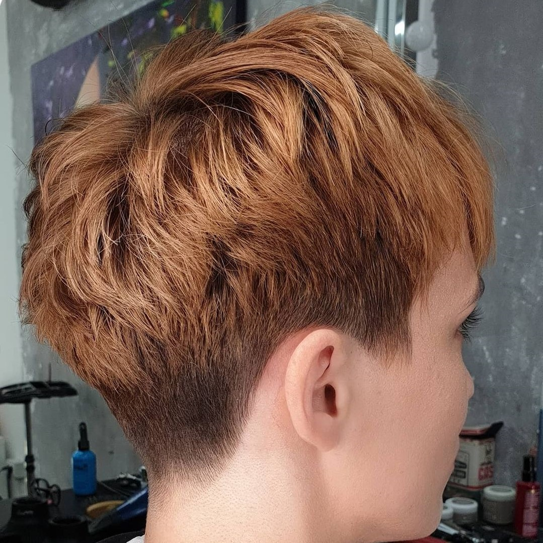 Short Pixie Undercut with Textured Layers