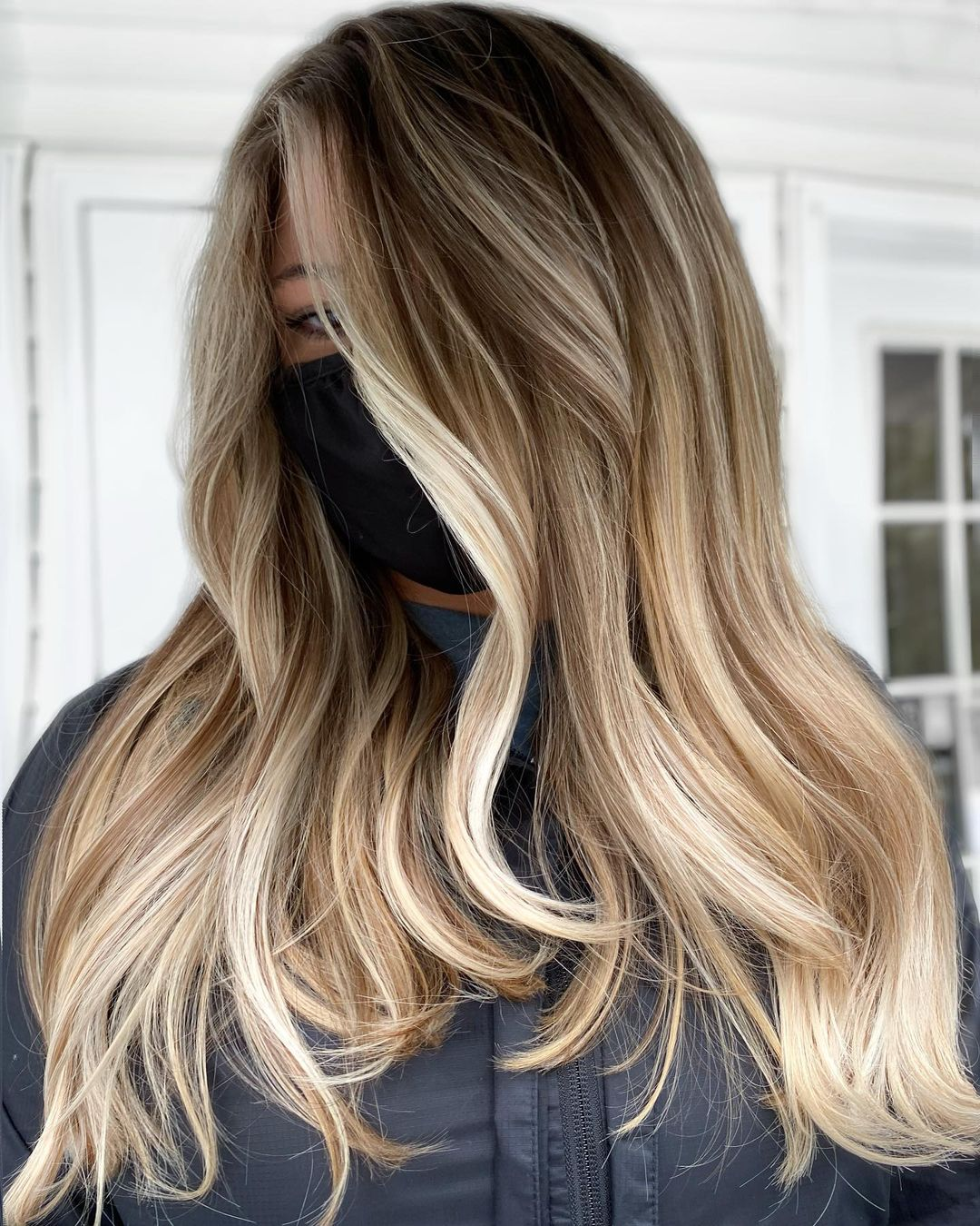 Cool and Warm Balayage Blonde Hair