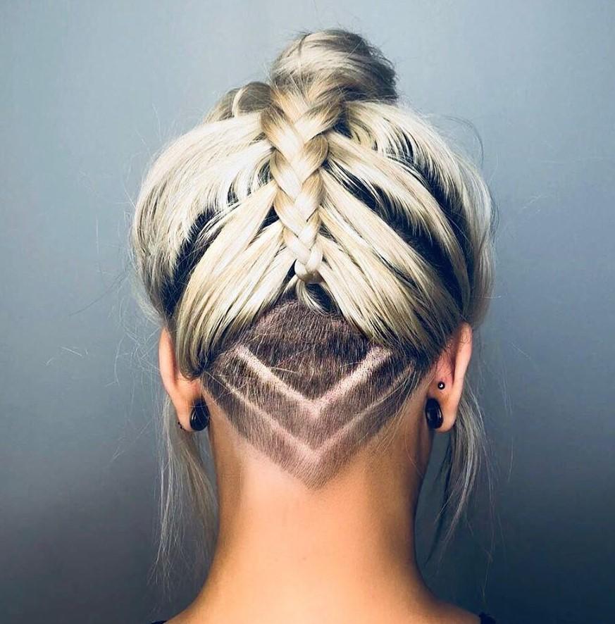 Nape Undercut Haircut for Women