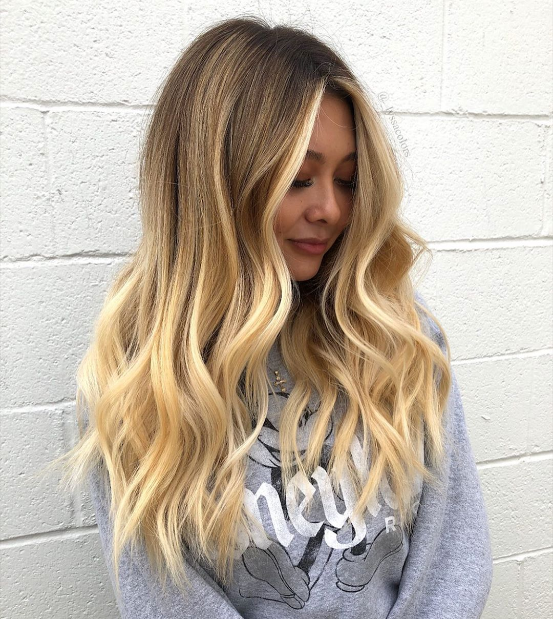 Golden Blonde Hair with Balayage