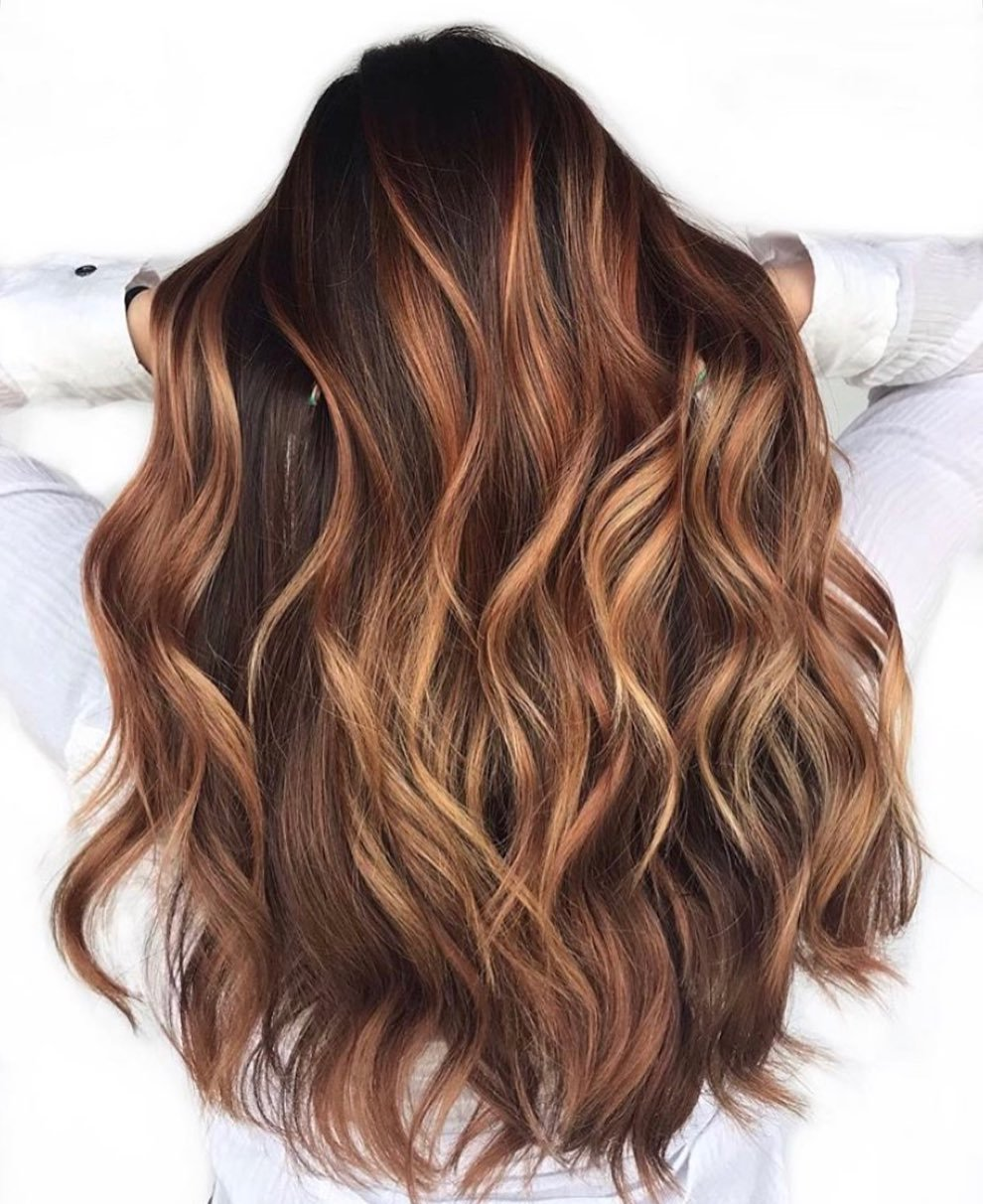 Caramel Hair Color Idea for Brown Hair